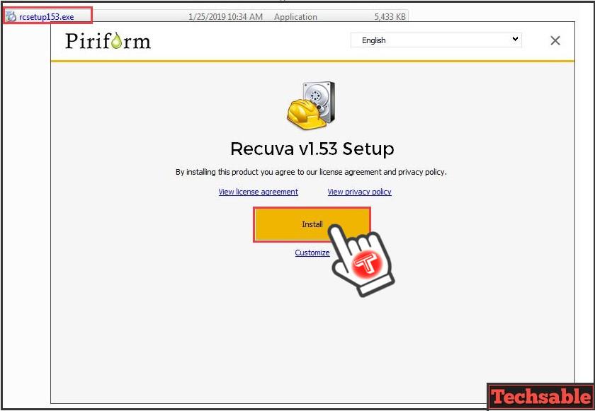 install recuva data recovery software