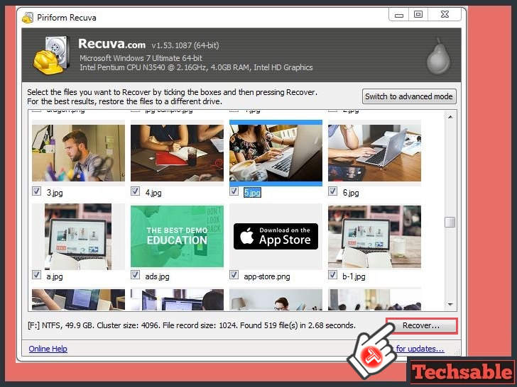 recover lost data files