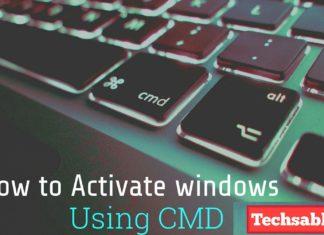 Activate windows using cmd
