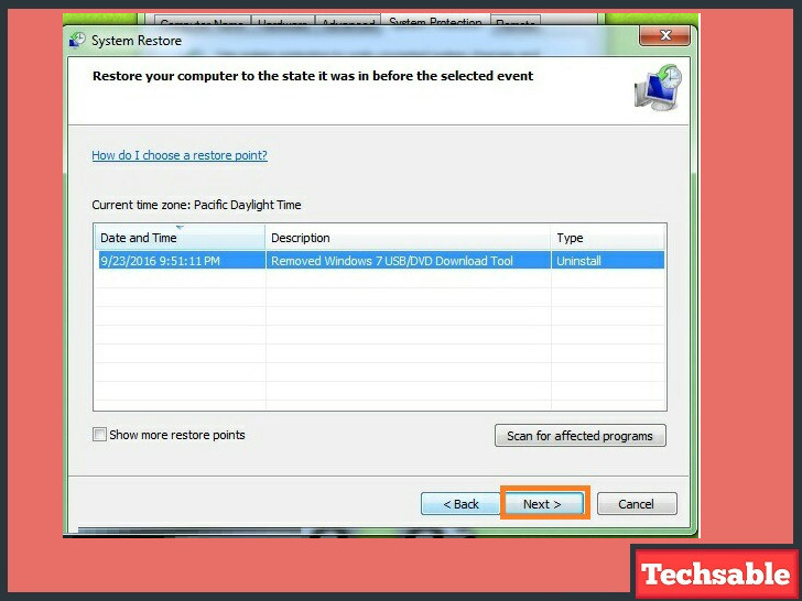 how to use system restore in windows
