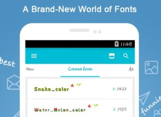 android fonts download