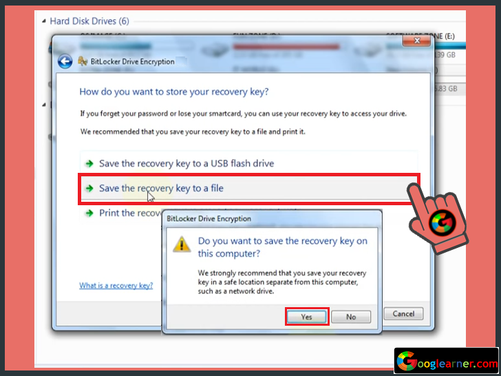 Hard Drive Password Lock in windows