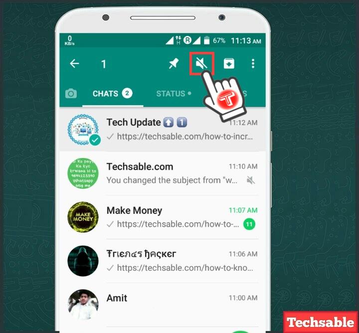 mute whatsapp group