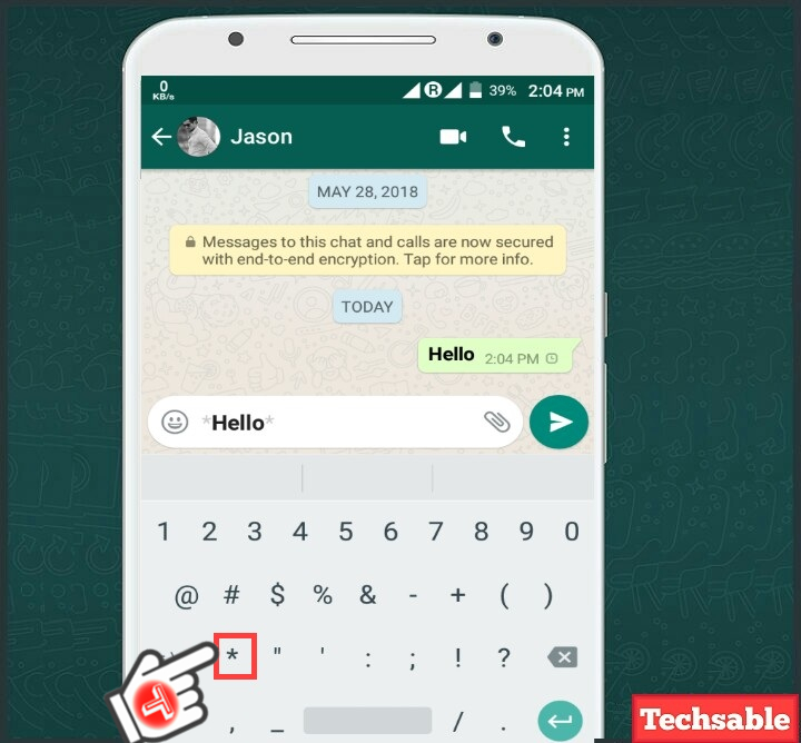 WhatsApp Font tricks