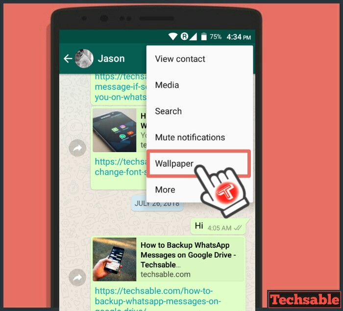 How to Change whatsapp background themes wallpaper