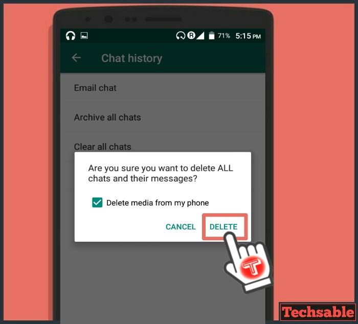 clear chat whatsapp