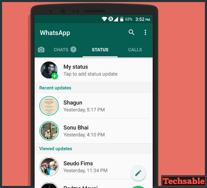 How to Save WhatsApp Status Without Using any App - Techsable