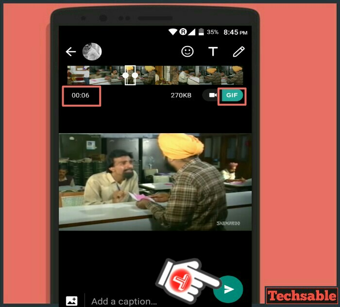 convert video into gif on whatsapp