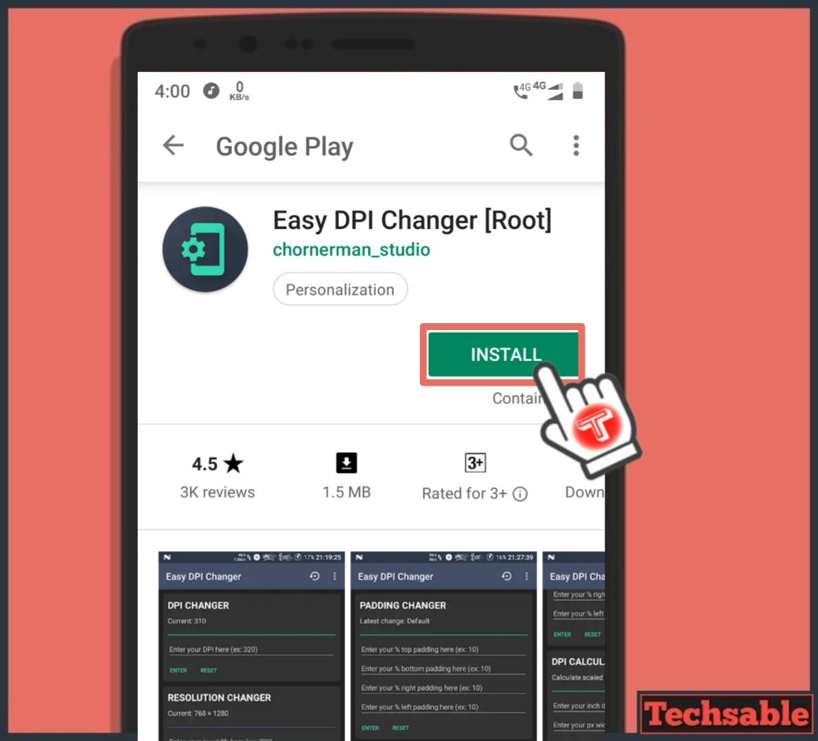 Change Screen Resolution in Android