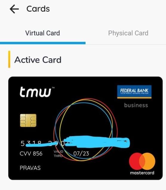 tmw virtual card
