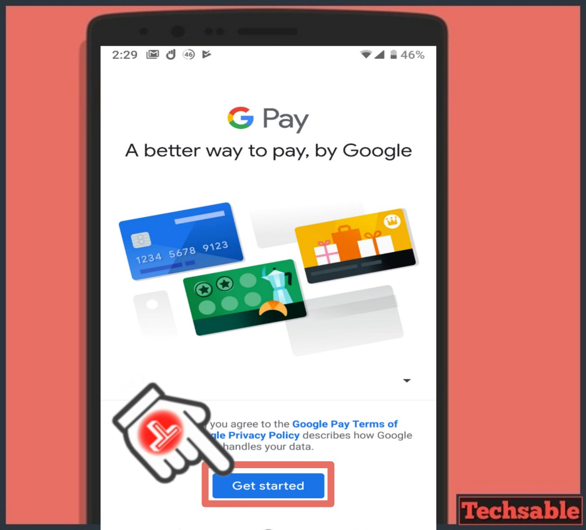 G pay get started