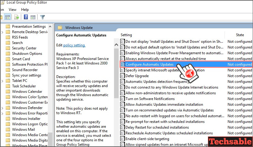 block automatic updates microsoft