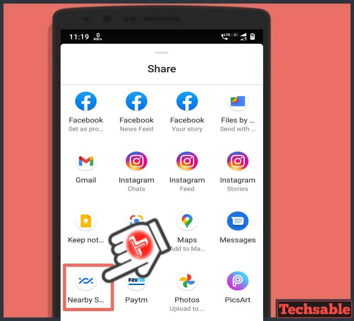 Nearby share Files Sharing Apps for Android
