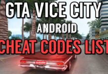 GTA VICE CITY ANDROID CHEAT CODES