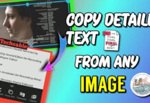 copy text from image in Android