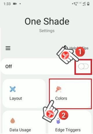 One shade statusbar App