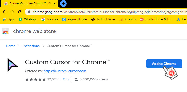 mouse pointer chrome extension