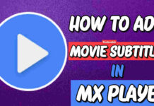 add movie subtitles in MXplayer