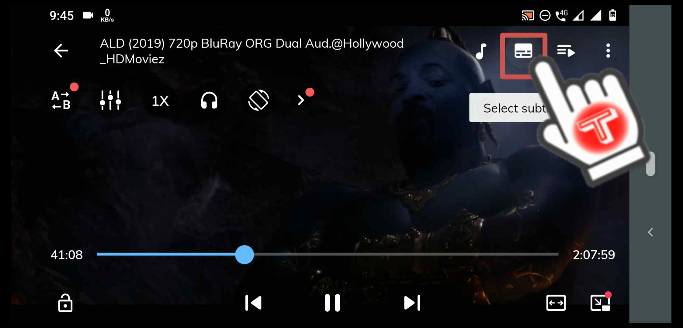 enable movie subtitles in MX Player