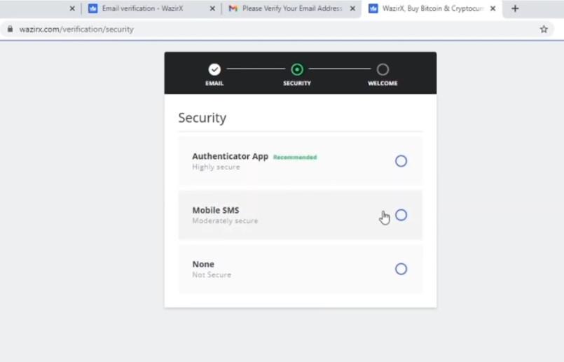 secure wazirx account
