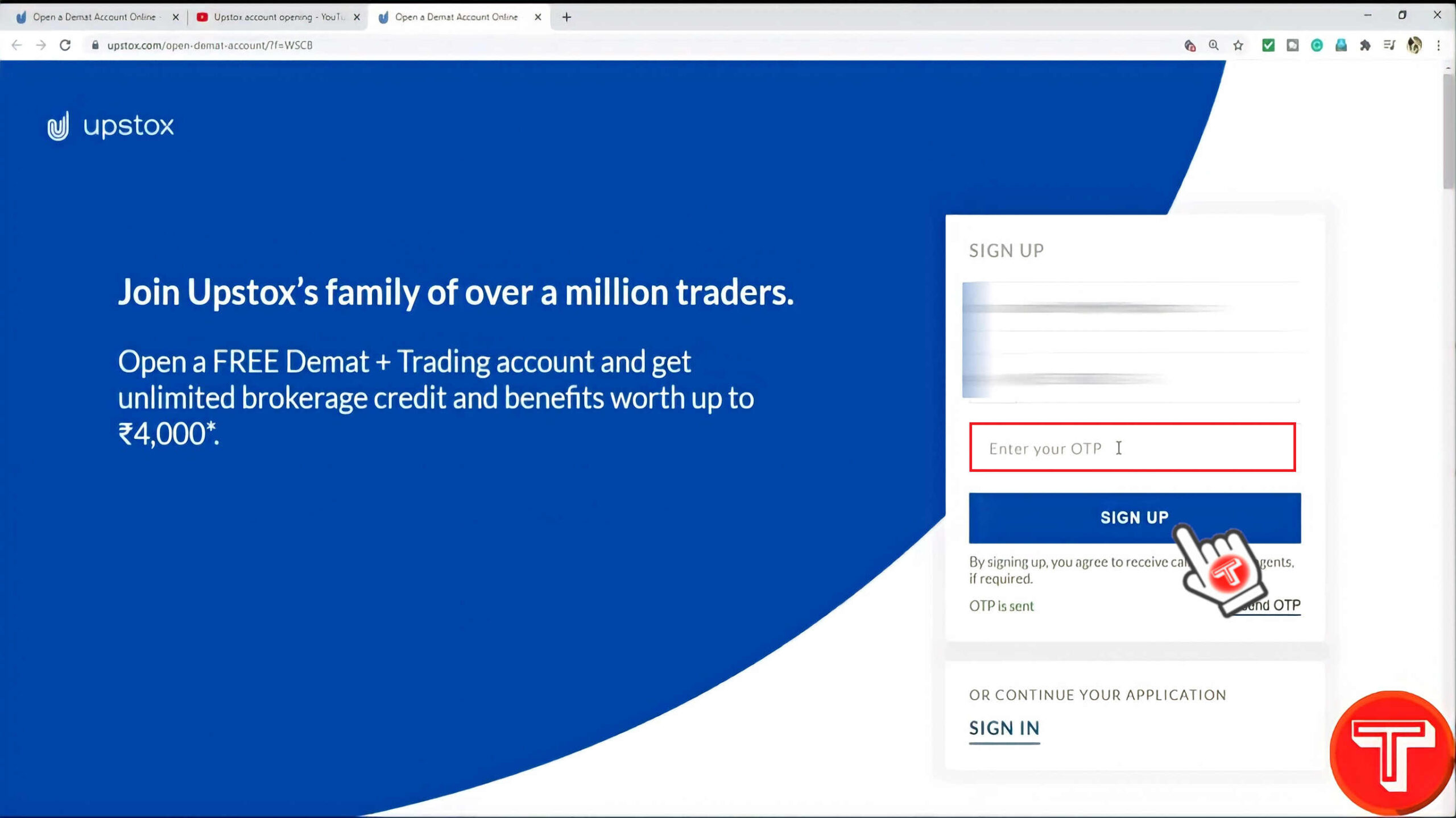 create upstox account
