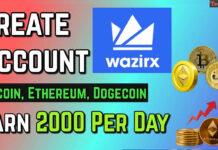 create wazirx account